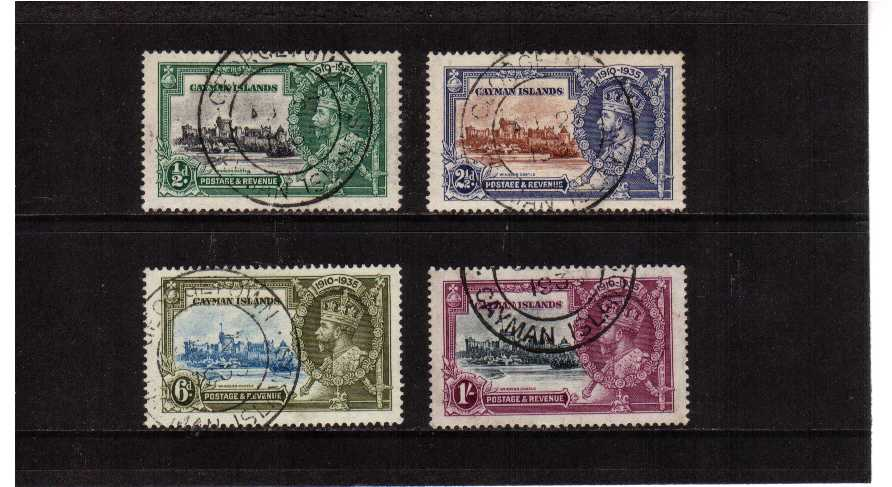 Silver Jubilee set of four superb fine used.<br/><b>SEARCH CODE: 1935JUBILEE</b><br><b>QAQ</b>