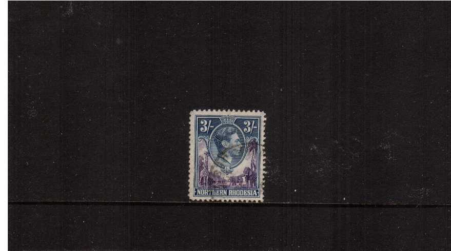 3/- Violet and Blue definitive odd value superb fine used.<br><b>ZKX</b>