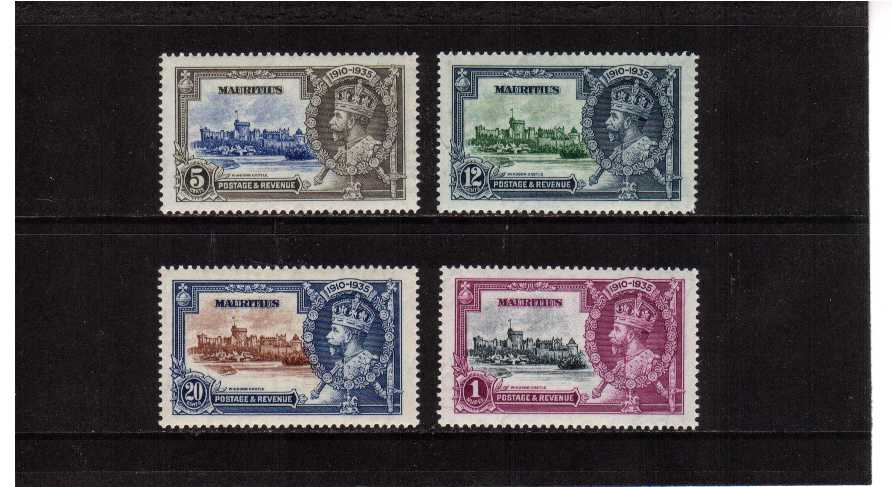 Silver Jubilee set of four superb unmounted mint.<br/><b>SEARCH CODE: 1935JUBILEE</b><br/><b>ZBZ</b>