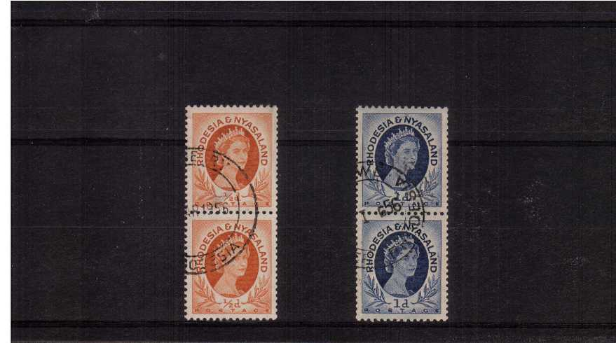 The coils set of two in superb fine used pair cancelled with a crisp CDS.<br><b>ZKX</b>