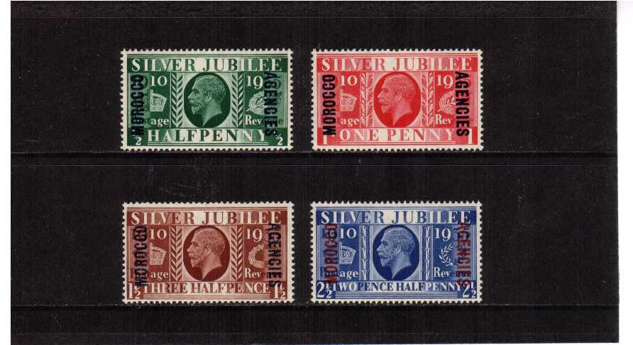 Silver Jubilee set of four superb unmounted mint.<br/><b>SEARCH CODE: 1935JUBILEE</b><br/><b>XUX</b>