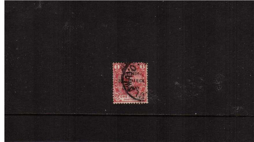 1d Rose-Red with  ''BRITISH SOUTH AFRICA'' overprint fine used.<br><b>ZKX</b>