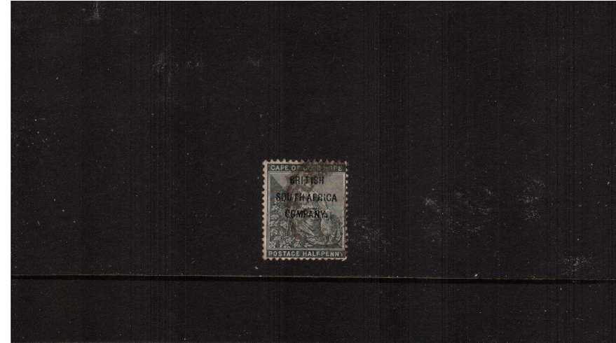 絛 Grey-Black with ''BRITISH SOUTH AFRICA'' overprint fine used.