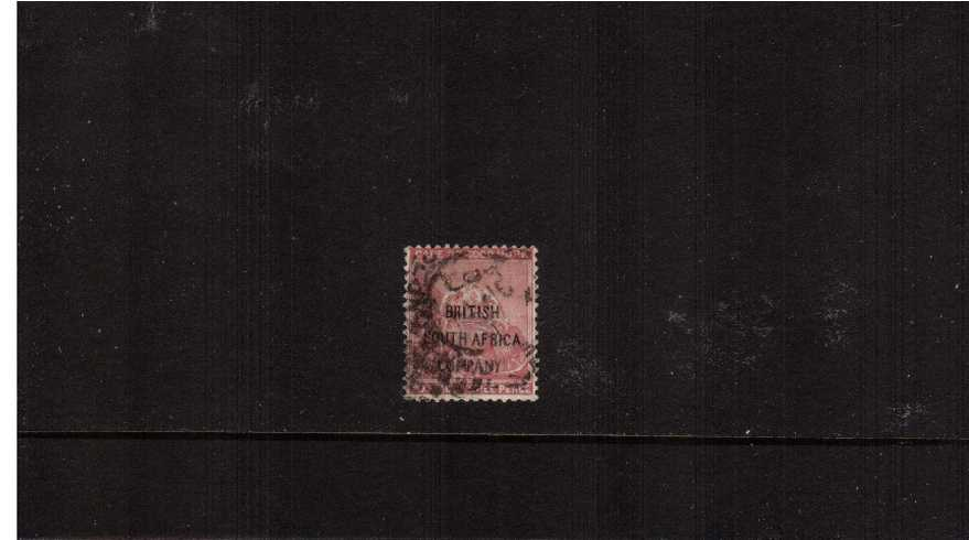 3d Pale Claret - FORGERY - with ''BRITISH SOUTH AFRICA'' overprint fine used