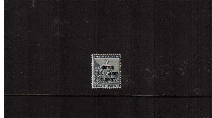 絛 Grey-Black with ''BRITISH SOUTH AFRICA'' overprint lightly mounted mint.
