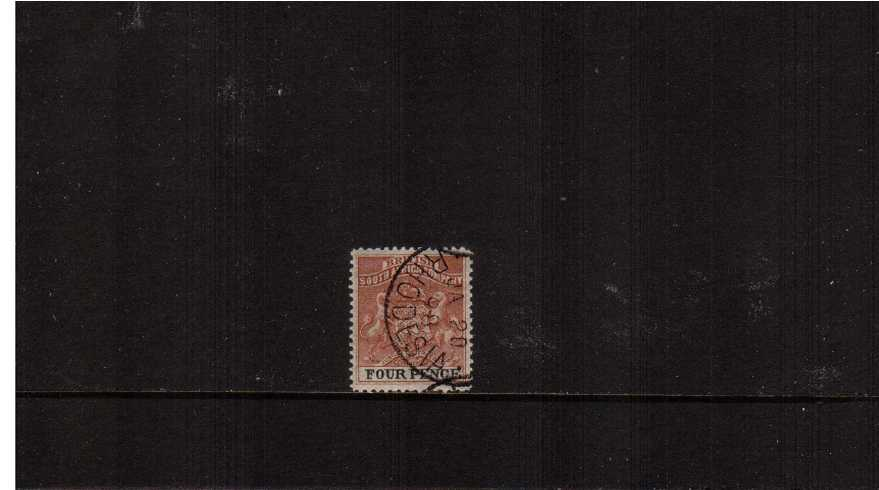2d Yellow-Brown and Black - Perforation 12½<br/>On thick soft wove paper fine used.