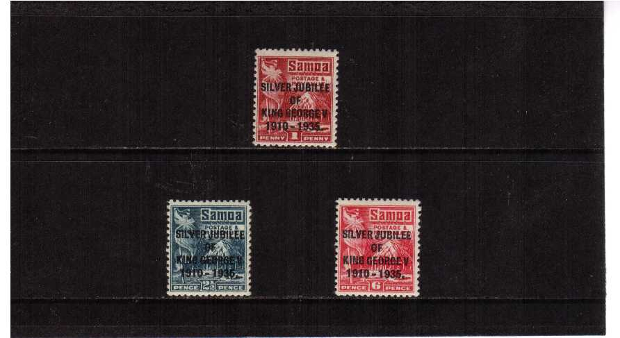 Silver Jubilee set of three superb unmounted mint.<br/><b>SEARCH CODE: 1935JUBILEE</b><br/><b>UJU</b>
