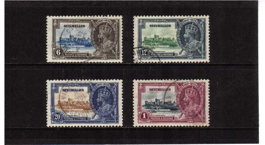 Silver Jubilee set of four superb fine used.<br/><b>SEARCH CODE: 1935JUBILEE</b><br/><b>ZCZ</b>