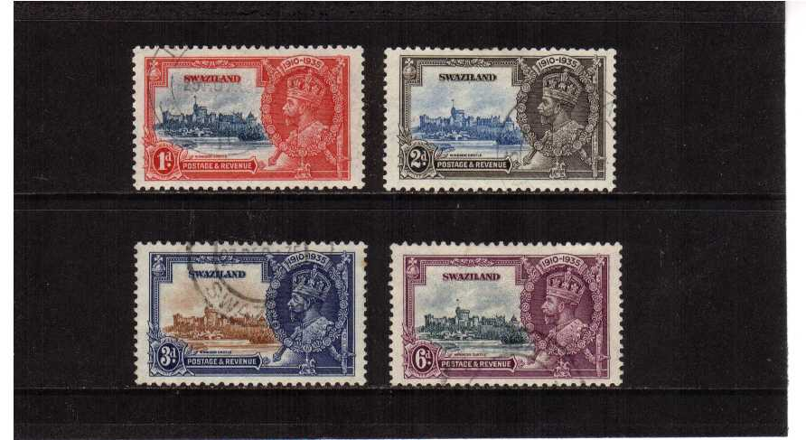 Silver Jubilee set of four superb fine used.<br/><b>SEARCH CODE: 1935JUBILEE</b><br/><b>XUX</b>