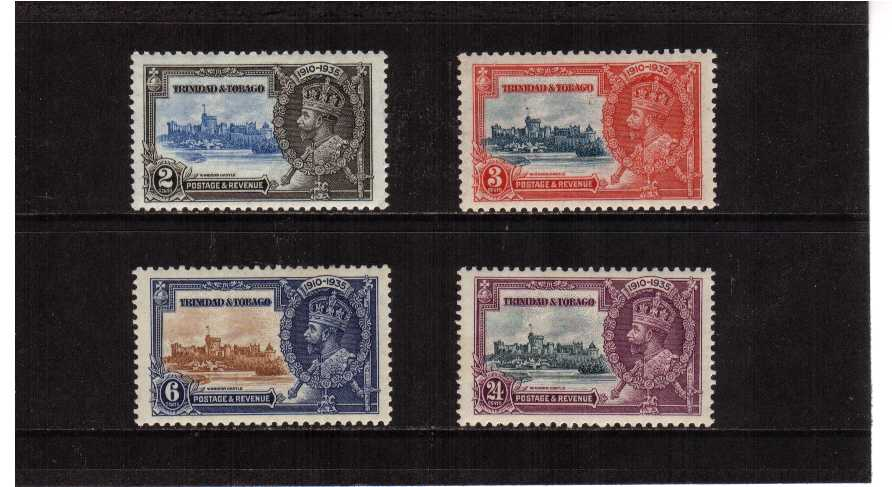 Silver Jubilee set of four lightly mounted mint.<br/><b>SEARCH CODE: 1935JUBILEE</b><br><b>ZHZ</b>