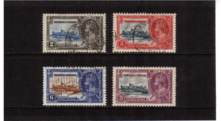 Silver Jubilee set of four superb fine used..<br/><b>SEARCH CODE: 1935JUBILEE</b>.<br/><b>ZKW</b>