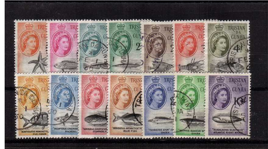 The ''Marine Life'' set of twelve superb fine used.
