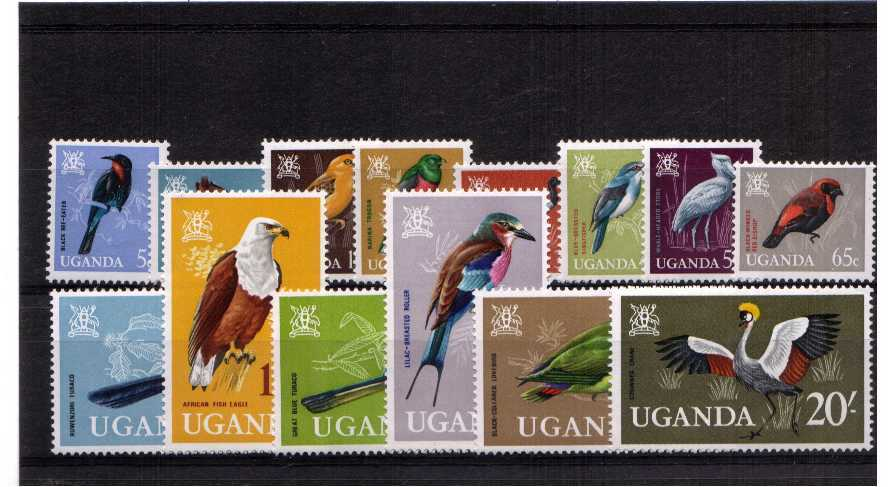 Birds - superb unmounted mint set of fourteen