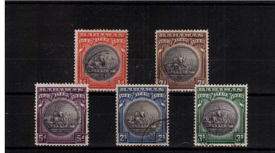 Tercentenary of the Colony<br/>A superb fine used set of five.