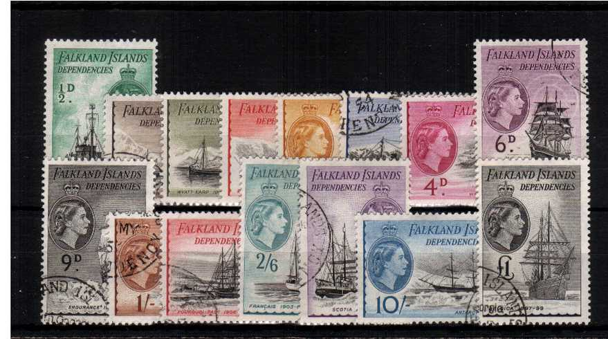 The famous ''Ships'' set of fifteen superb fine used.