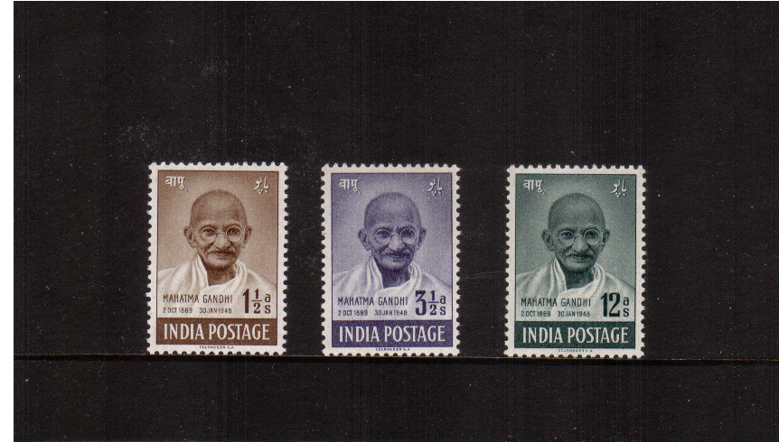 First Anniversary of Independence - Mahatma Gandhi<br/>