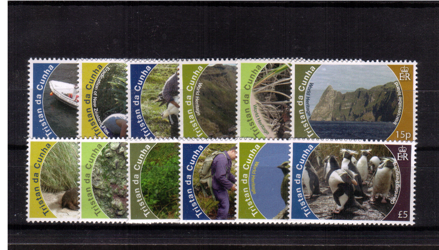 The Conservation set of twelve superb unmounted mint.