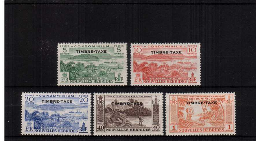 The Postage Due set of five superb unmounted mint.