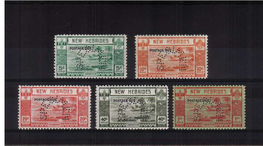 The Postage Due set of five perfined ''SPECIMEN'' fine very, very lightly mounted mint.