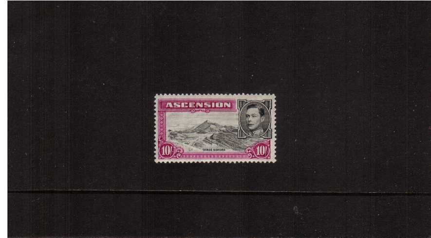 10/- definitive single - Perforation 13�br/>A superb mounted mint single.