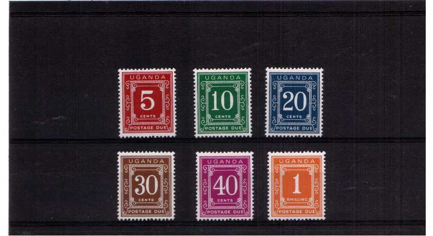 POSTAGE DUE - A superb unmounted mint set of six.<br/><b>UEU</b>