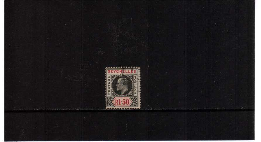 1R50 Black and Carmine - Watermark Multiple Crown CA<br/>A good used single. SG Cat �