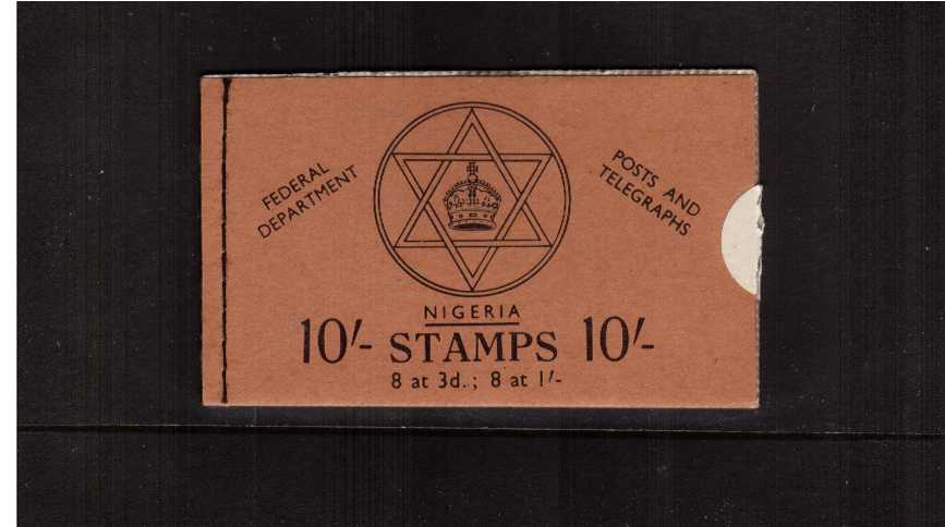 10/- Black on Bluff cover booklet