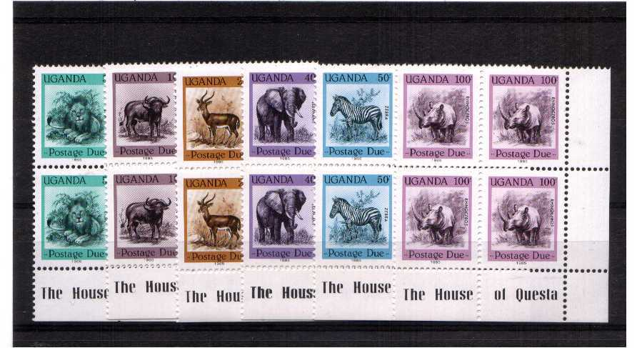 superb unmounted mint set of 6 in Imprint blocks of 4
