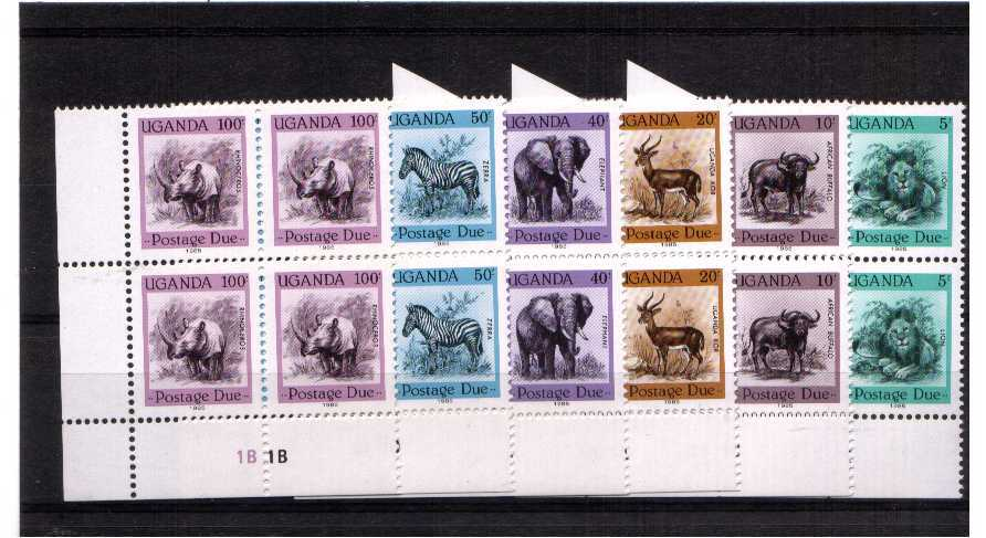superb unmounted mint set of 6 in PLATE blocks of 4