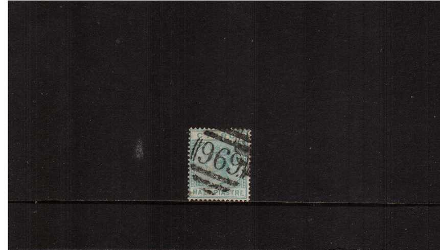 ½pi Emerald-Green - Watermark Crown CC<br/>A superb fine used single cancelled with crisp upright ''969''. A pretty stamp.