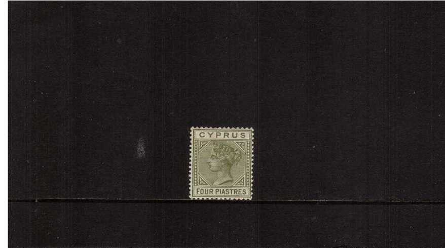 4pi Pale Olive-Green - Die I<br/>A lovely bright and fresh lightly mounted mint single.
