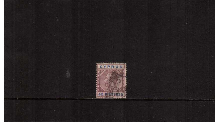 45pi Dull Purple and Ultramarine - Multiple Crown<br/>A spacefiller stamp with a small tear NE corner. SG Cat £160
