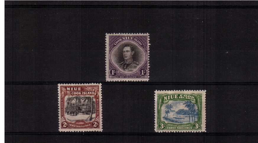 A superb unmounted mint set of three