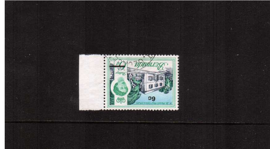 The 6c of 6d definitive right side marginal single clearly showing an INVERTED WATERMARK cancelled with part of a double ring ST. GEORGE steel CDS. SG Cat £190