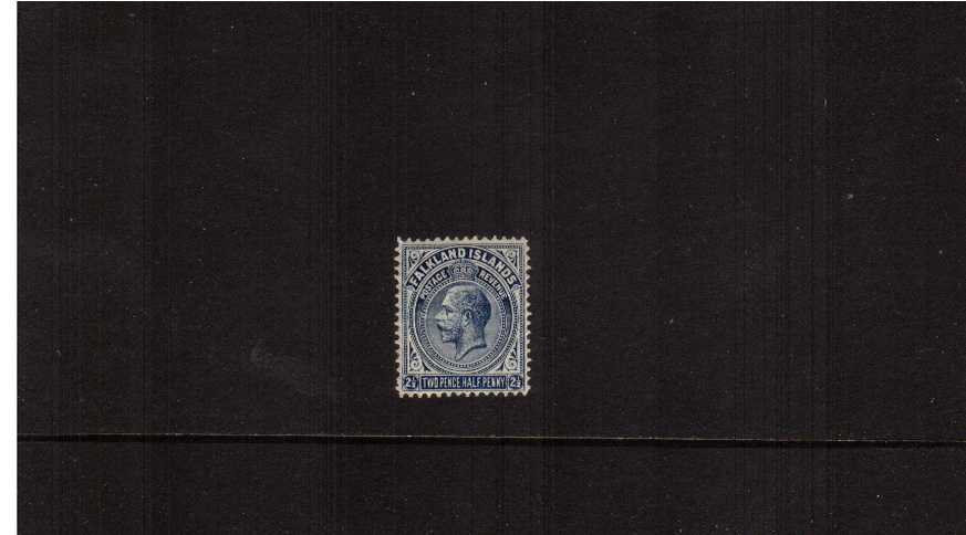 2½d Deep Blue - Line Perforation14<br/>An average mounted mint single. SG Cat £48