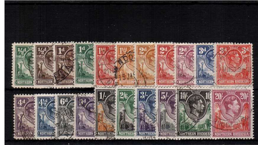 A superb fine used set of twentyone. Scarce set used.
