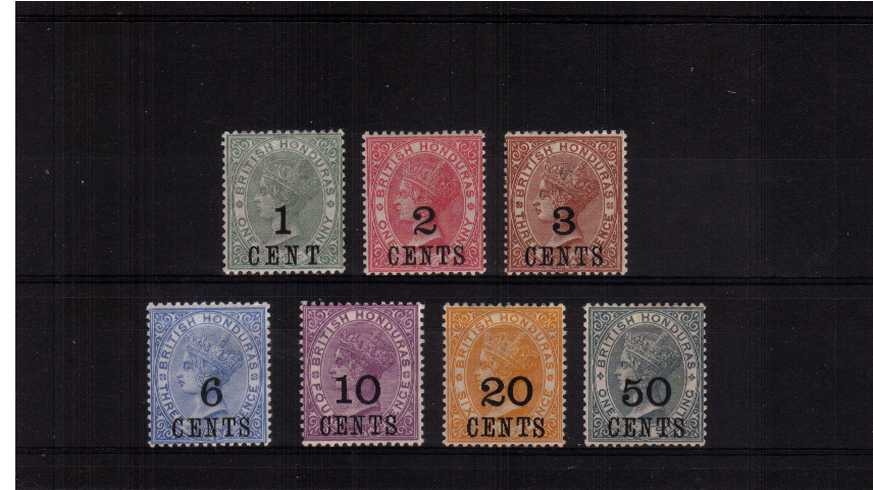 A fine lightly mounted mint set of seven with bright and very fresh colours. Lovely!<br/><b>ZFZ</b>