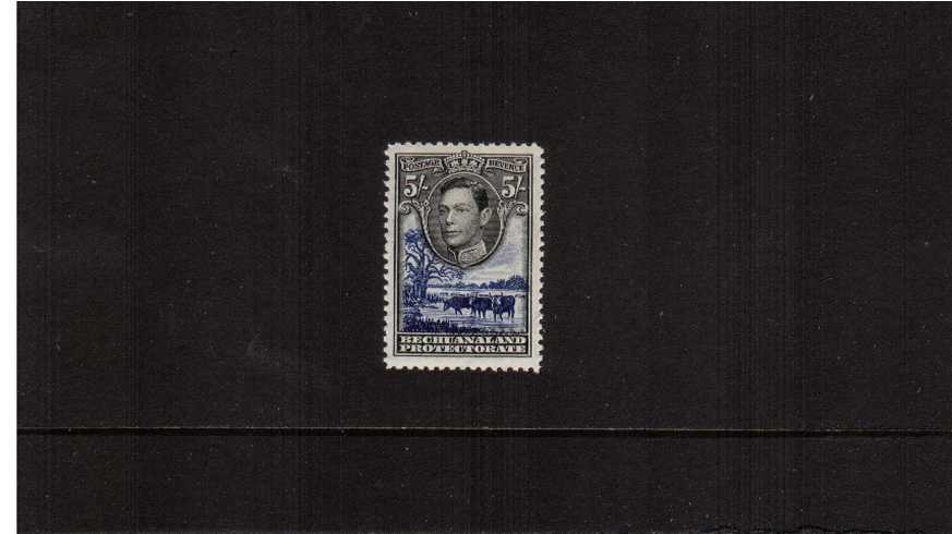 5/- definitive single fine lightly mounted mint.<br/><b>ZEZ</b>