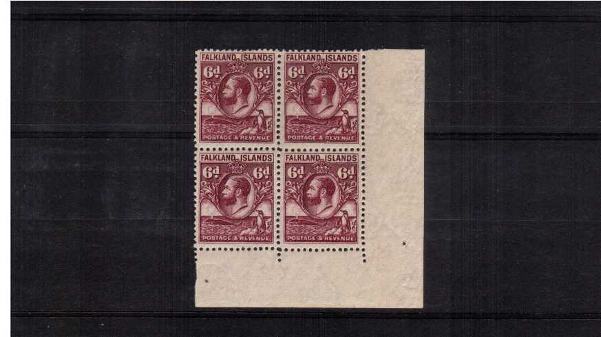 ''Penguin & Whale'' 6d Reddish Purple - Line Perforation.<br/>