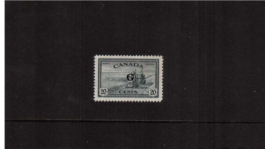 The 20c Slate showing Combine Harvester overprinted  ''G''  superb unmounted mint single. 