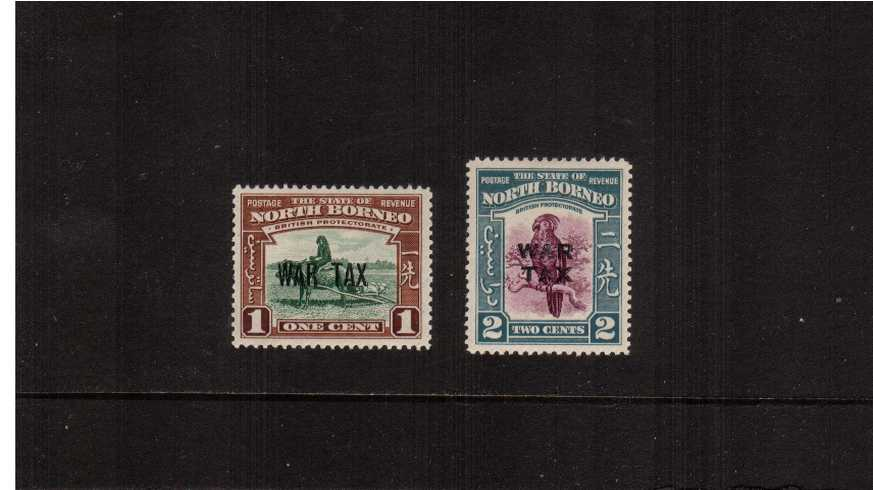 The WAR TAX overprint set of very, very lightly mounted mint. 