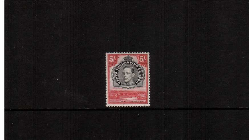 5/- Black and Carmine - Perforation 13¼<br/>