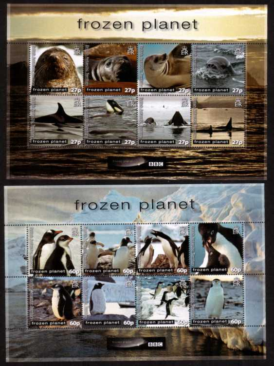 BBC Frozen Planet set of two sheetlets of eight