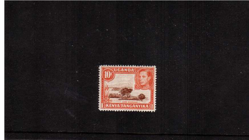 10c Brown & Orange definitive single superb unmounted mint.<br/>Perforation 14<br/><b>QKQ</b>