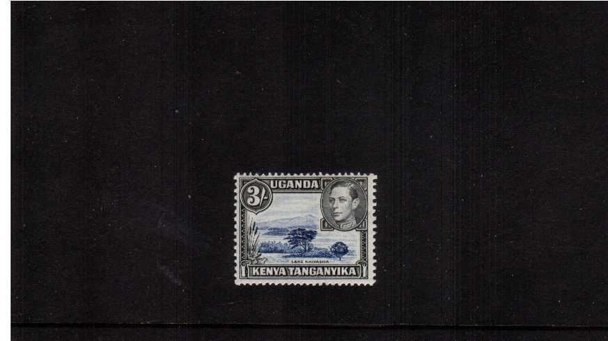 3/- Dull Ultramarine and Black - Perforation 13x11¾<br/>A superb unmounted mint single.