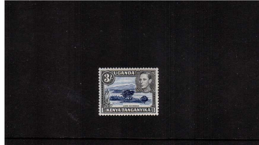 3/- Deep Violet-Blue and Black - Perforation 13x12½<br/>A superb unmounted mint single.