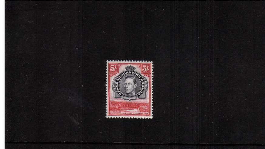5/- Black and Carmine - Perforation 13¼x13¾<br/>