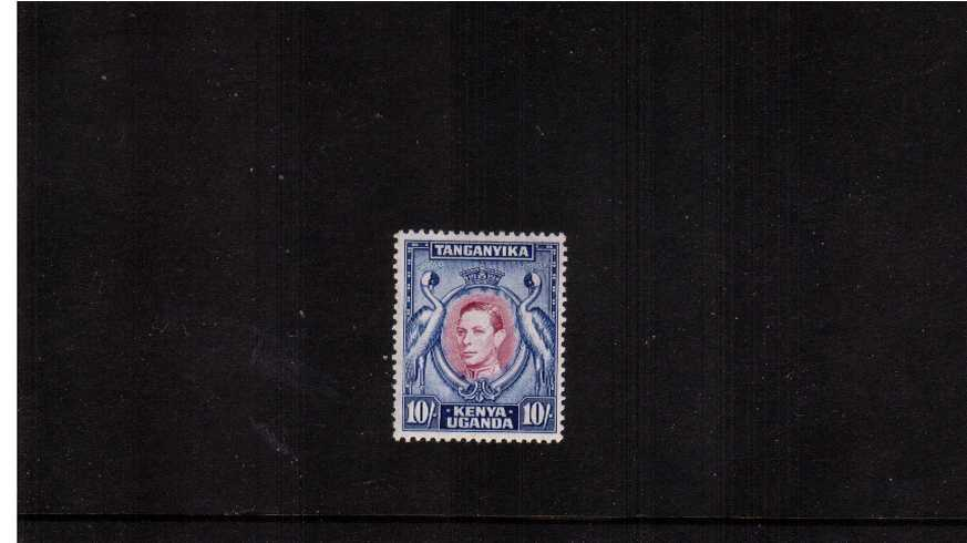 10/- Purple and Blue - Perforation 13¼<br/>A fine lightly mounted mint single.