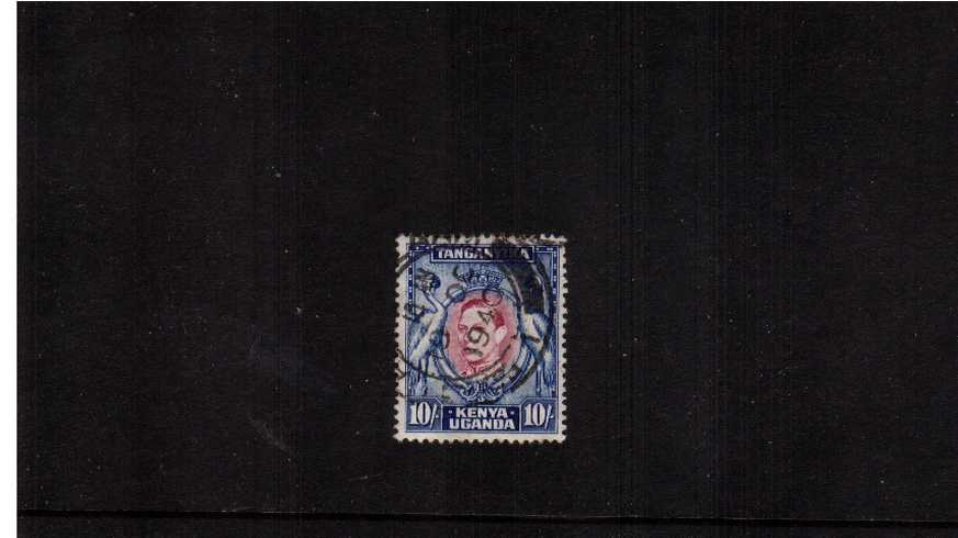 10/- Purple and Blue - Perforation 13¼<br/>