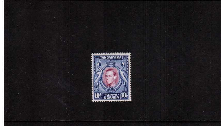 10/- Purple and Blue - Perforation 13¼x13¾<br/>